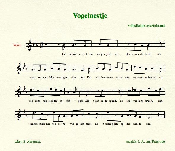 Nederlandse volksliedjes