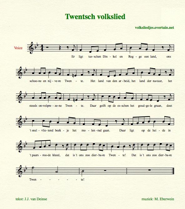 Volkslied Provincie Volksliederen Van Alle Provincies